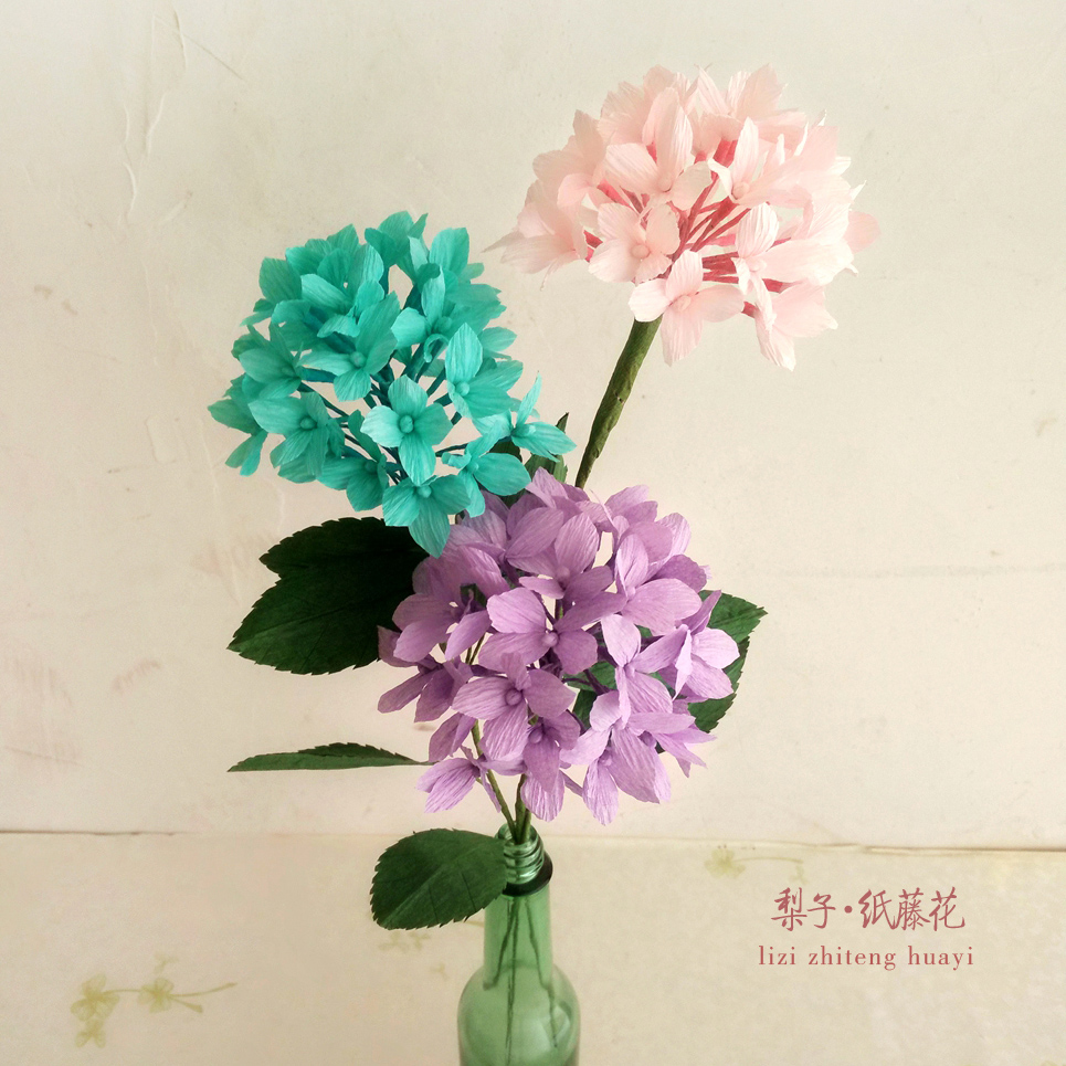 Diy Crepe Paper Hydrangea Craft Materials Package Eight Home