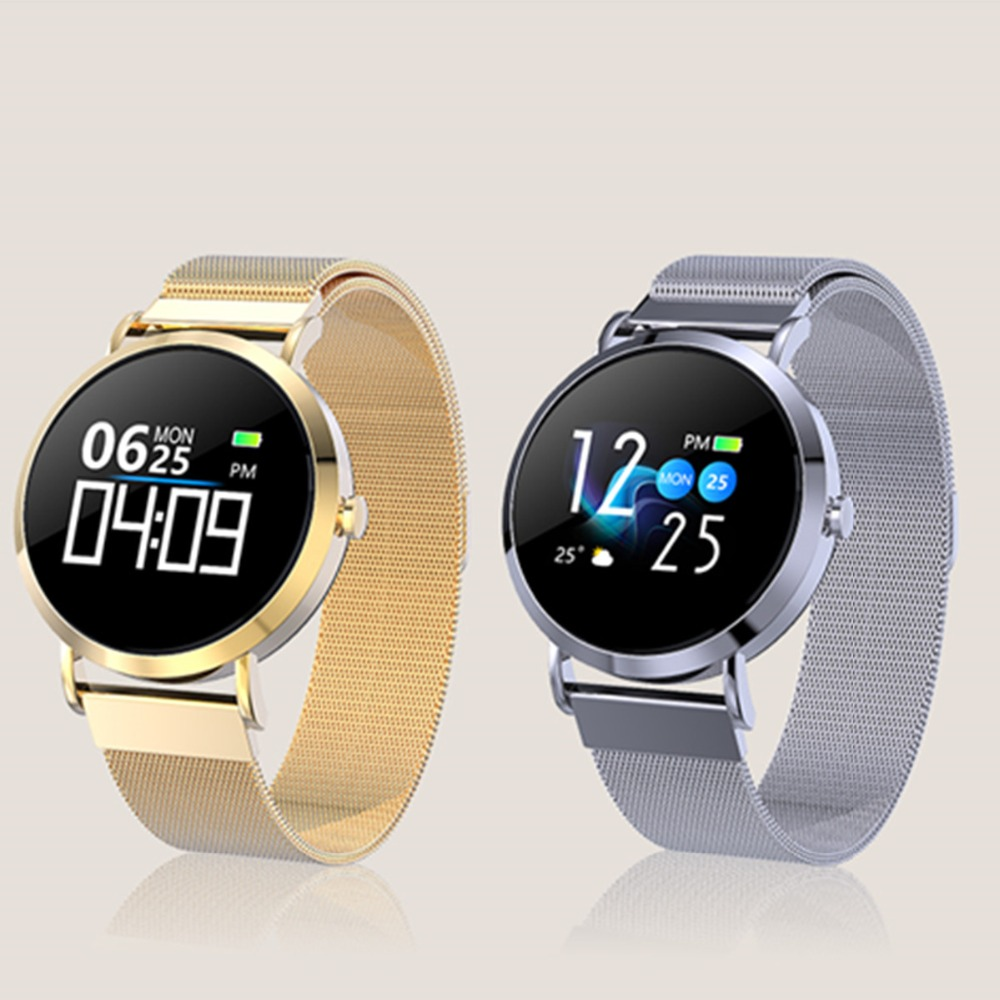 CV08C Classic Smart Watch Women Blood Pressure Heart Rate Monitor Sport Fitness Tracker Smartwatch connect IOS Android Phone 6 7
