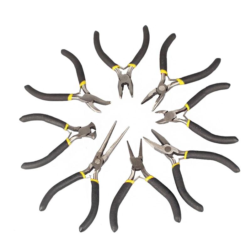 Alicates redondos para hacer joyas, Kit de cuchillas laterales de alambre plano