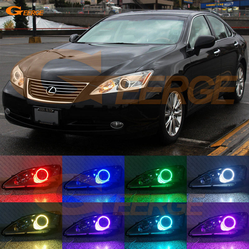 For LEXUS ES350 2007 2008 2009 Excellent Angel Eyes Multi-Color Ultra bright RGB LED Angel Eyes kit Halo Ring for alfa romeo 147 2005 2006 2007 2008 2009 2010 excellent angel eyes kit multi color ultra bright rgb led angel eyes halo rings