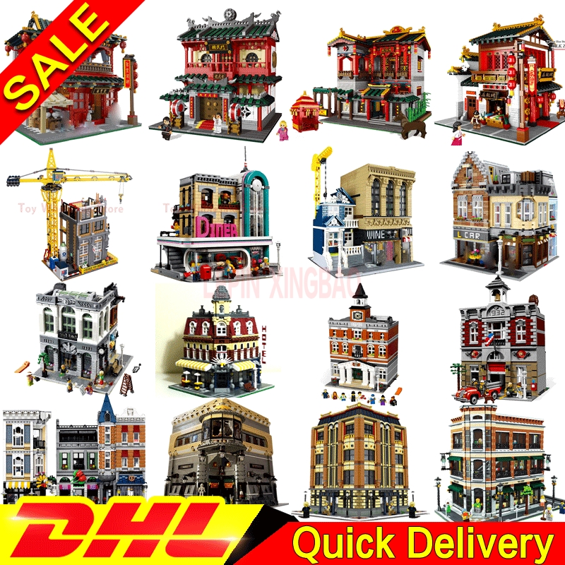 Building-Blocks 15008 01001 Leleings 15011 XINGBAO 16050 15034 Model DHL