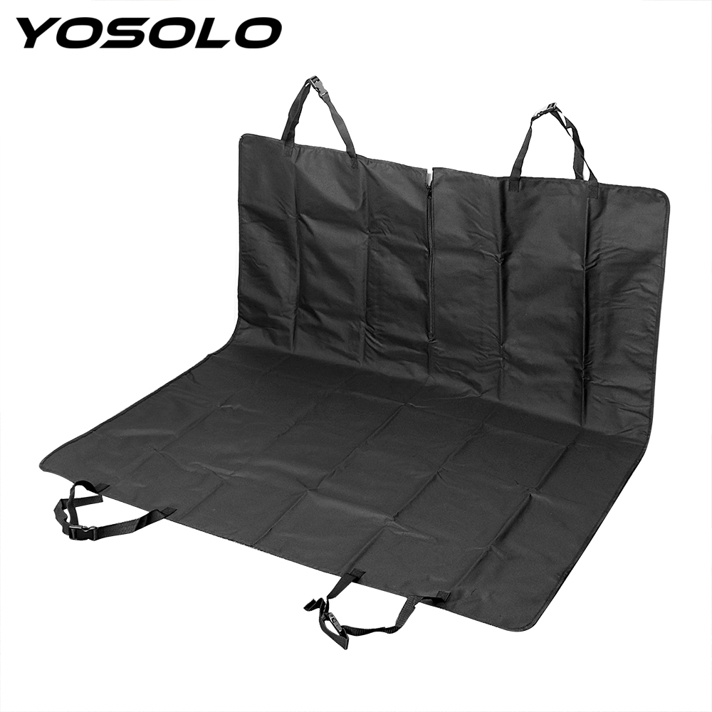YOSOLO Waterproof Car Pet Seat Covers Folding Mat Interior Accessories Oxford Dog Carry Storage Bag Hammock Car Styling