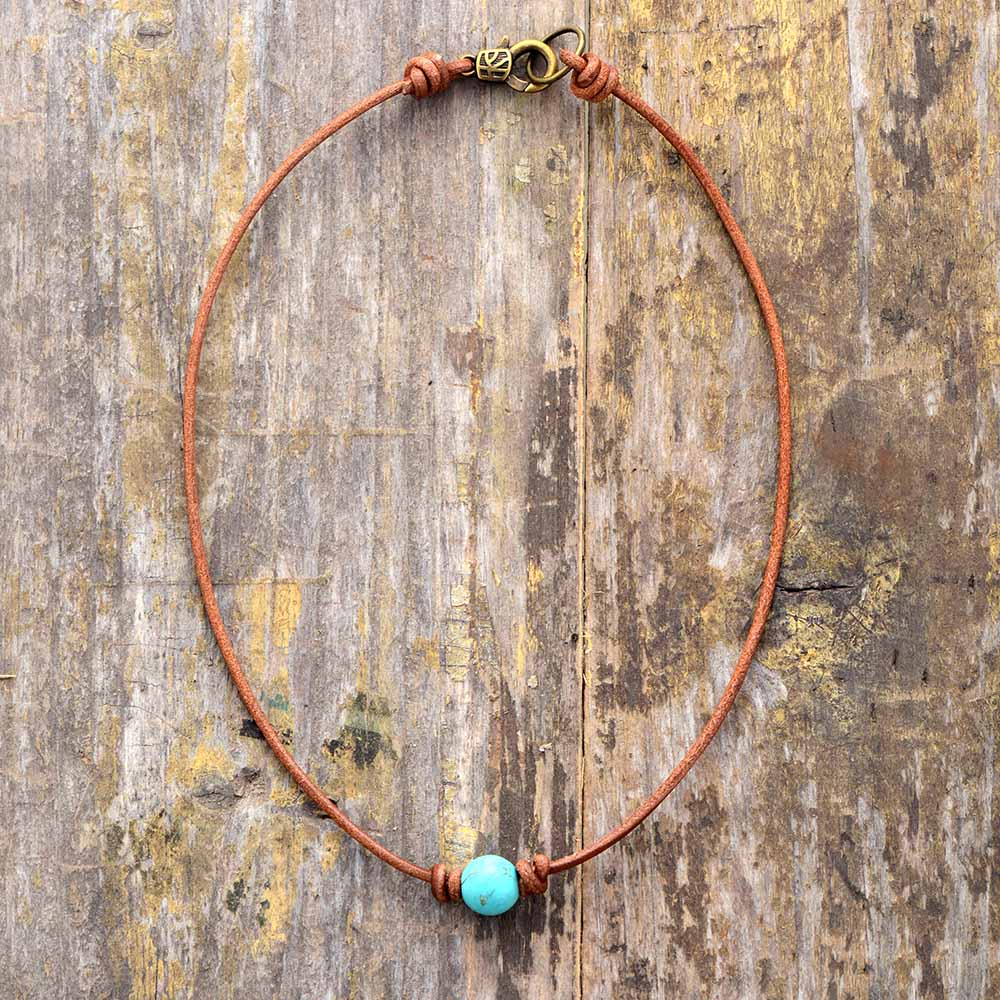 New Chokers Necklaces Semi Precious Stone Short Necklace Women New Fashion Statement Necklaces Jewelry