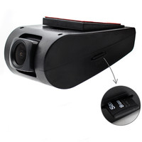 HD USB DVR Front Recorder Camera for Android 4.4 5.1 6.0 7.1 8.0 Car DVD Player Support SD Card & Built in 1GB memory