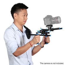 מחוון מוט כפול יד לחיצת יד מחזיק כתף וידאו הר תמיכת אסדת מייצב עם בורג הר עבור DSLR מצלמה למצלמות