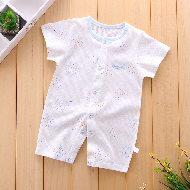 906b80ccc48 Newborn Clothes Cotton Girl Clothes 2018 Soft Comfortable Summer Infant  pajamas Jumpsuits Kids Costume For New Baby Boy Romper