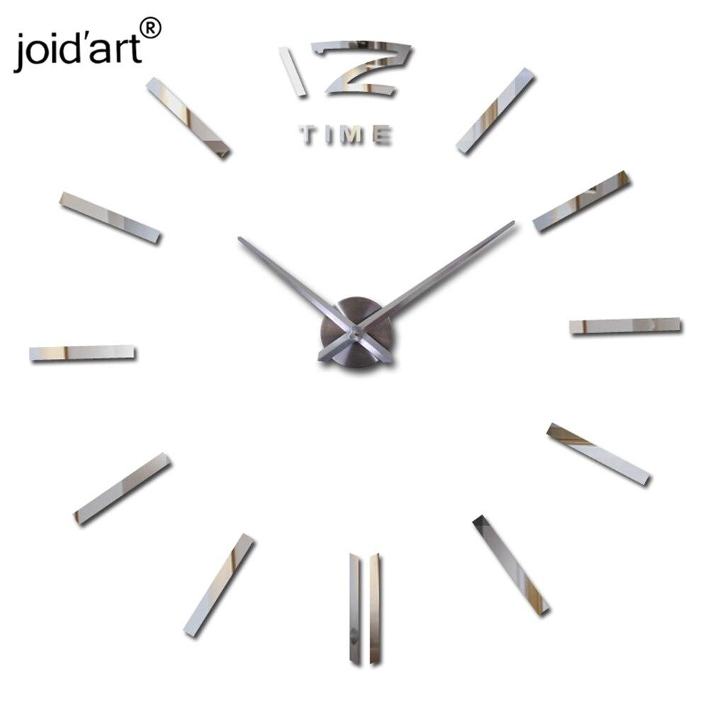 Vente chaude horloge murale grandes horloges murales décoratives décor à la maison diy horloges salon reloj mural autocollant