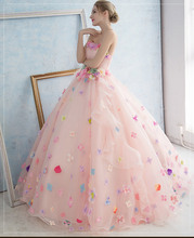 colorful flower fairy pink ball gown princess medieval dress Renaissance Gown queen Victoria/Antoinette/ball gown/Belle Ball