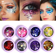 TEAYASON Glitter Eyeshadow Powder Makeup Shiny Loose Blue Purple Starlight Face Art Decoration AM055