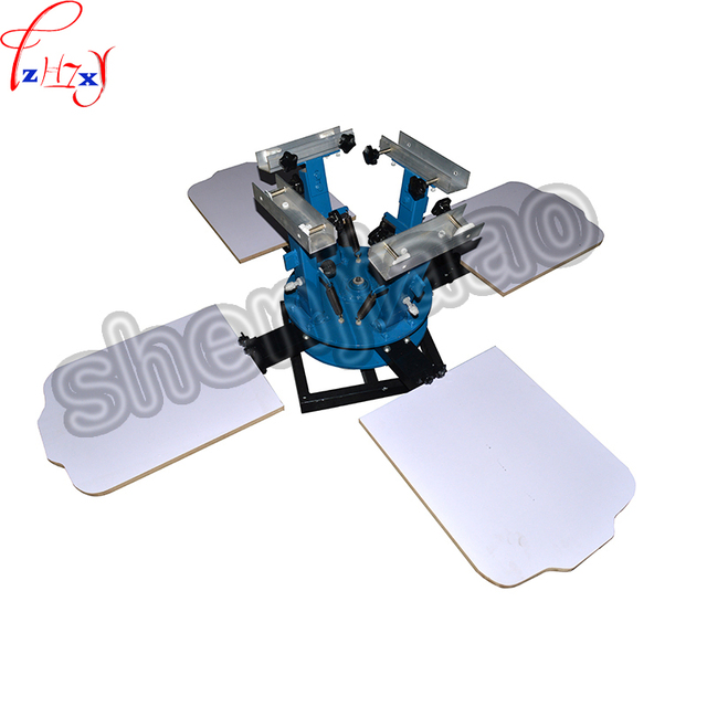 1Set 4 color 4 station T-shirt screen printing machine comeswith base good quality