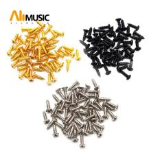 50PCS 3mm Electric Guitar Bass Pickguard Screws Pick Guards Scratch Plate Mounting Screws for Fender ST Tele TL Gibson Guitar(China)