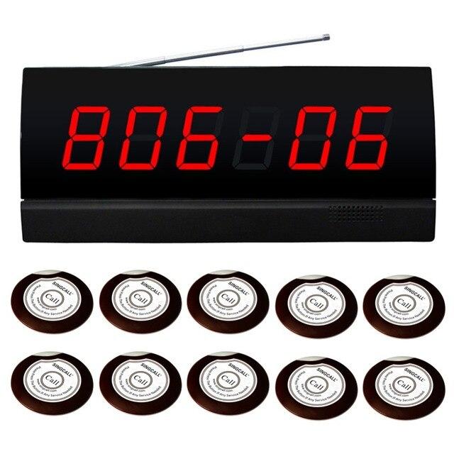 Беспроводная охранная система отображения для 10 номеров. дисплей, отображающий как номер или номер кровать. 10 шт. колокола и 1 шт. дисплей