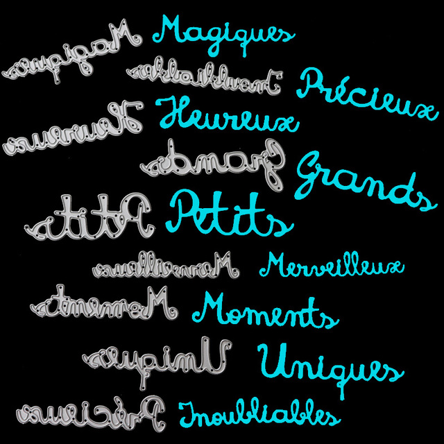 French Word Craft Dies Magic Moments Precious Metal Cutting Dies New