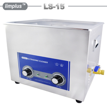 Ultrasonic Cleaner 15L Stainless Steel Knob Timing Heated Industrial Cleaning Machine Bath For Golf Club Mechanical Hardware