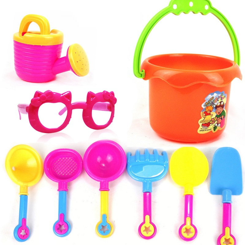 9pcs/set sand playing tool for kids toys beach toy in the sands and water table toys set for sands playing tool sand and water