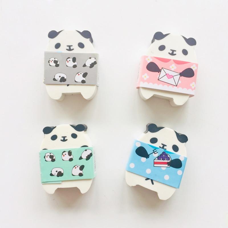 1PC Kawaii Panda Eraser Rubber Erasers Correction School Office Supply Student Stationery
