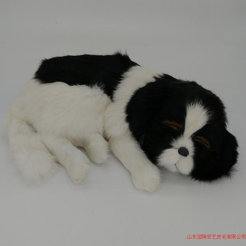 new simulation sleeping dog polyethylene & furs black&white dog model about 35x25x7.5cm 210 simulation pomeranian dog 29x25cm hard model polyethylene