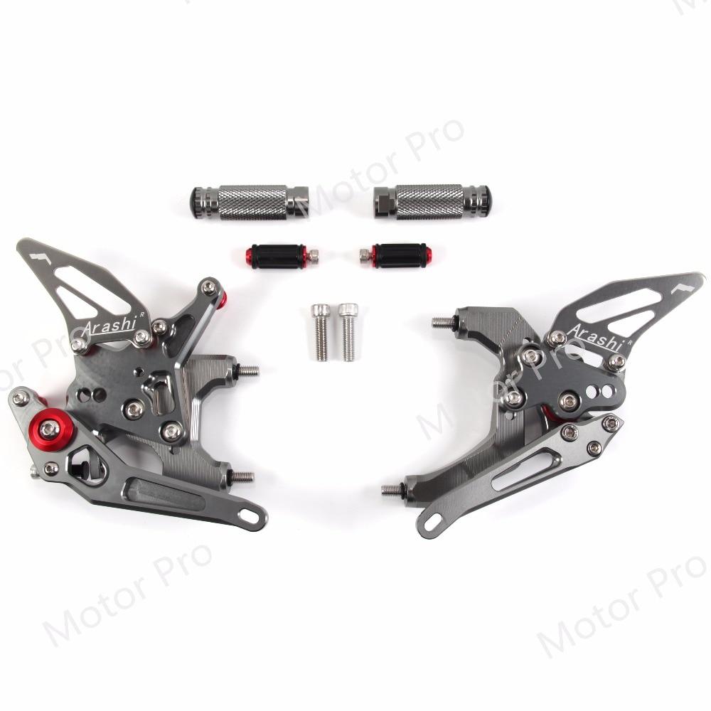 Acheter Repose pieds réglables Pour Ducati 959 Panigale 2016 2017 Moto Pied Peg Reste Rearset Arrière Set Pédale CNC En Aluminium GRIS 16 17 de Repose-Pieds fiable fournisseurs