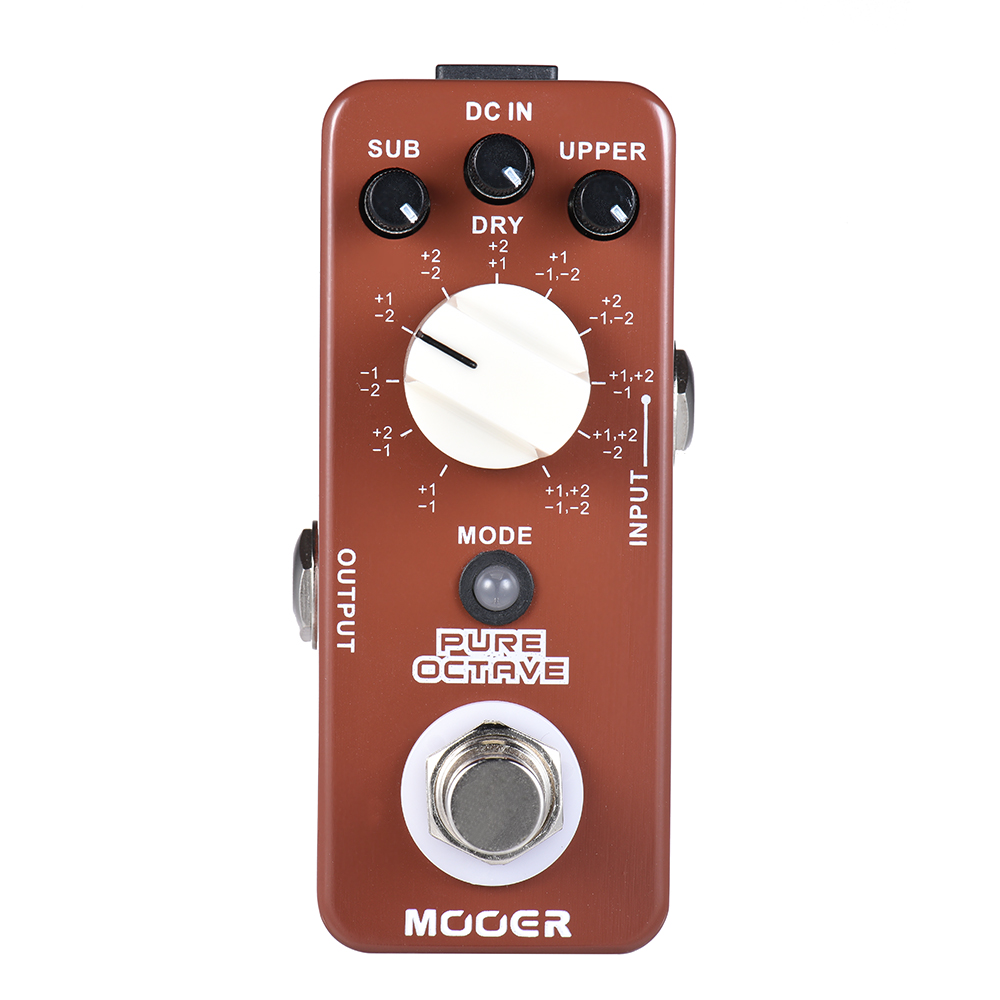 Mooer Full Metal Shell Effects Micro Pure Octave Guitar Effect Pedal With 11 Different Octave Modes True Bypass mooer hustle drive distortion guitar effect pedal micro pedal true bypass effects with free connector and footswitch topper