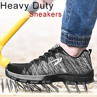 Fashion Unique Design Hot Men Women Work Safety Shoes Steel Toe Protect Industrial Construction Sneakers HD88