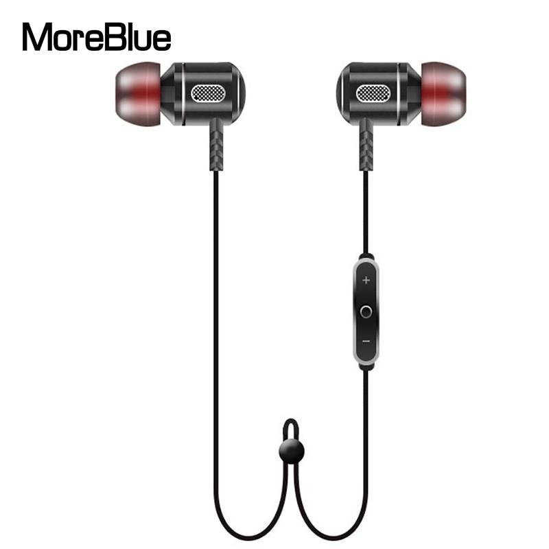 bilder für MoreBlue S8 Drahtlose Bluetooth Kopfhörer Super Bass Kopfhörer Metall Headset Stereo-ohrhörer Sport Lauf Ohrhörer Mit Mikrofon