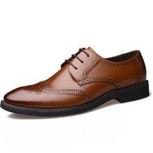 럭셔리 디자인 옥스포드 비즈니스 남성 신발 정품 가죽 고품질 캐주얼 통기성 남성 드레스 슈즈