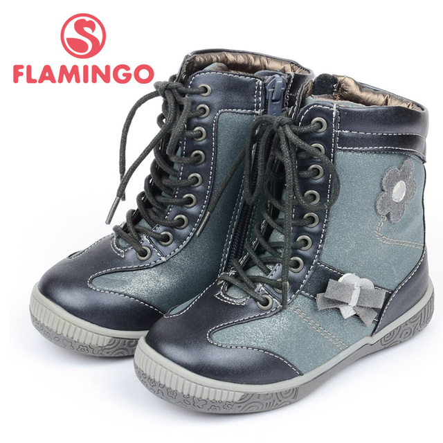 FLAMINGO 100% Russian Famous Brand 2015 New Arrival Spring & Autumn children Fashion High Quality  Boots XB3857