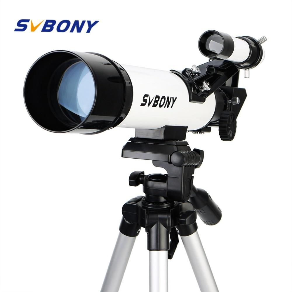 SVBONY SV25 Astronomi Teleskop 60 / 420mm Refraktor för nybörjare Skola Kids med Adapter Professionell bästa Pris F9304