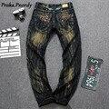 Calidad Original 2017 Nuevo Diseñador Del Mens Jeans Hombres Robin Jeans Famosa Marca Denim Con Alas Americanos Europea Jeans Tamaño 29-42