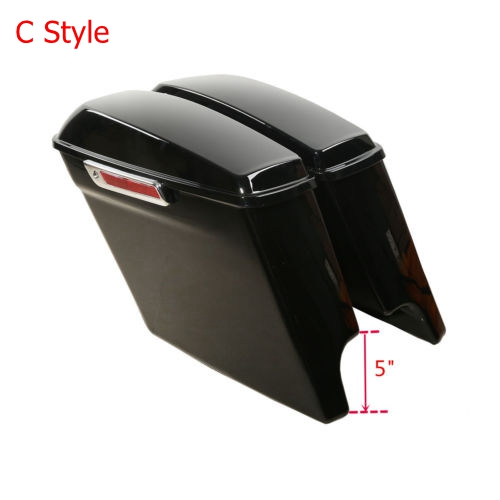 """Image 3 - Motorcycle Tour Pak Pack Trunk 5""""Stretched Extended Saddle Bags For Harley Touring Road King Street Glide Road CVO 2014 2019 18"""
