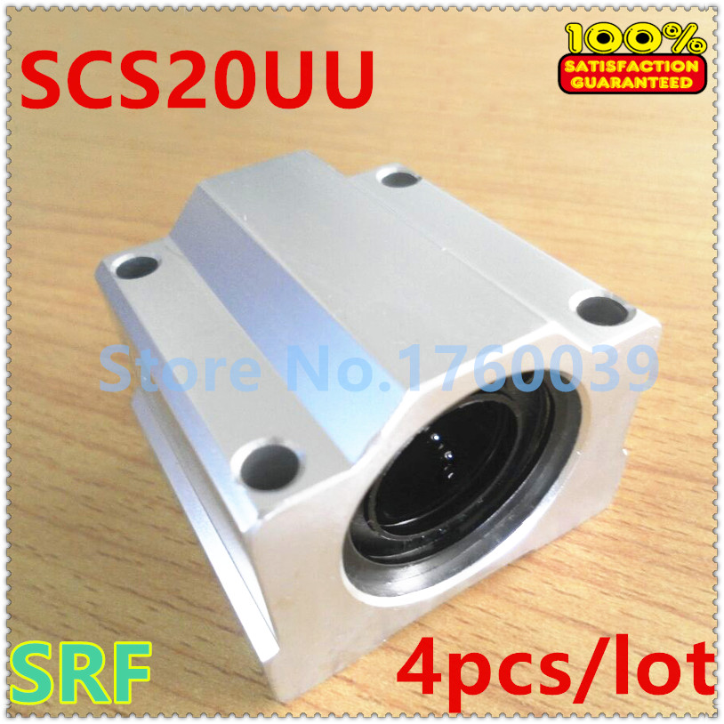 High quality!4pcs SC20UU SCS20UU 20mm Linear Ball Bearing block Linear slide block for 20mm shaft rail CNC Parts