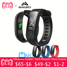 Makibes HR1 Bluetooth Smart Bracelet Heart Rate Monitor Fitness Activity Tracker Continuous 0.96