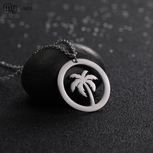 My Shape Mini Round Pendant New Charms Stainless Steel Fashion Necklaces for Women 2019 Statement