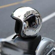 Ретро шлем vintage скутер jet moto capacete мотоциклетный шлем chrome зеркало 3/4 vespa открытым лицом шлемы мотокросс KTM