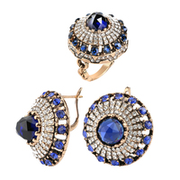 Fashion Jewelry Set Earrings Ring Set For Women 2017 New Luxury Vintage Jewelry Charm Crystal Female