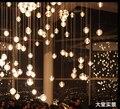T Moda Simples Cristal Led bola Lâmpadas Meteor shower Hall Do Hotel Para Casa Sala de estar Varanda lâmpadas de Iluminação Com bolhas