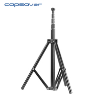 capsaver 66 inches Ring Light Stand Tripod Aluminum Alloy Table Tripod Detachable Portable Photographic Tripod for Lamps Camera