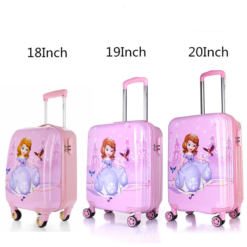 Baby Girls Princess Sofia Luggage/Kids ABS Pink Travel Suitcase On ...