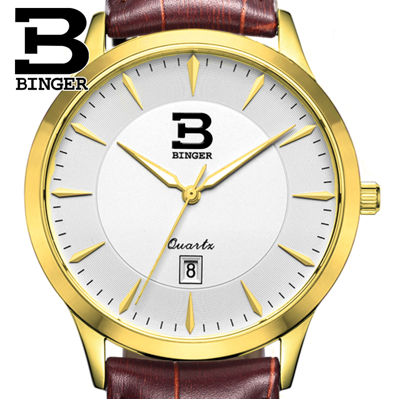 Switzerland mens watch luxury brand BINGER business quartz full stainless steel Water Resistance Wristwatches B3005M-5Switzerland mens watch luxury brand BINGER business quartz full stainless steel Water Resistance Wristwatches B3005M-5