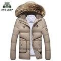 Marca envío gratis 2016 Invierno Nuevos hombres Acolchado Streetwear Casual Abrigo de Invierno Chaqueta de Los Hombres Parkas Moda Sólido 180hfx1