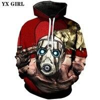 YX GIRL Classic game Borderlands sweatshirt hoodies 3d hoodies Monster Print Men Women Streetwear Sweatshirt