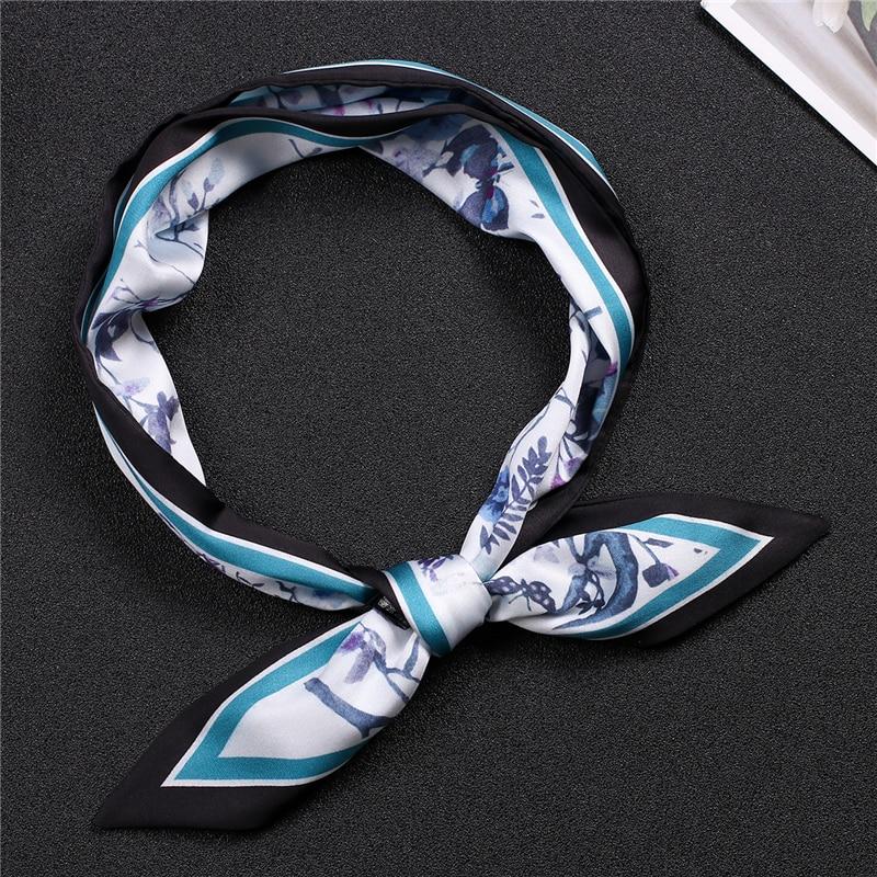 Luxury Women Scarf Silk Hair Neck Scarfs Skinny Design Print Office Lady Scarves Female Head Band Tie 2020 New