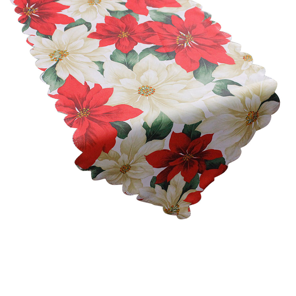 Christmas Vine Flowers Table Decoration Table Runner Tapestry Table Cloth  Dining Mat Coasters Placemat New Year