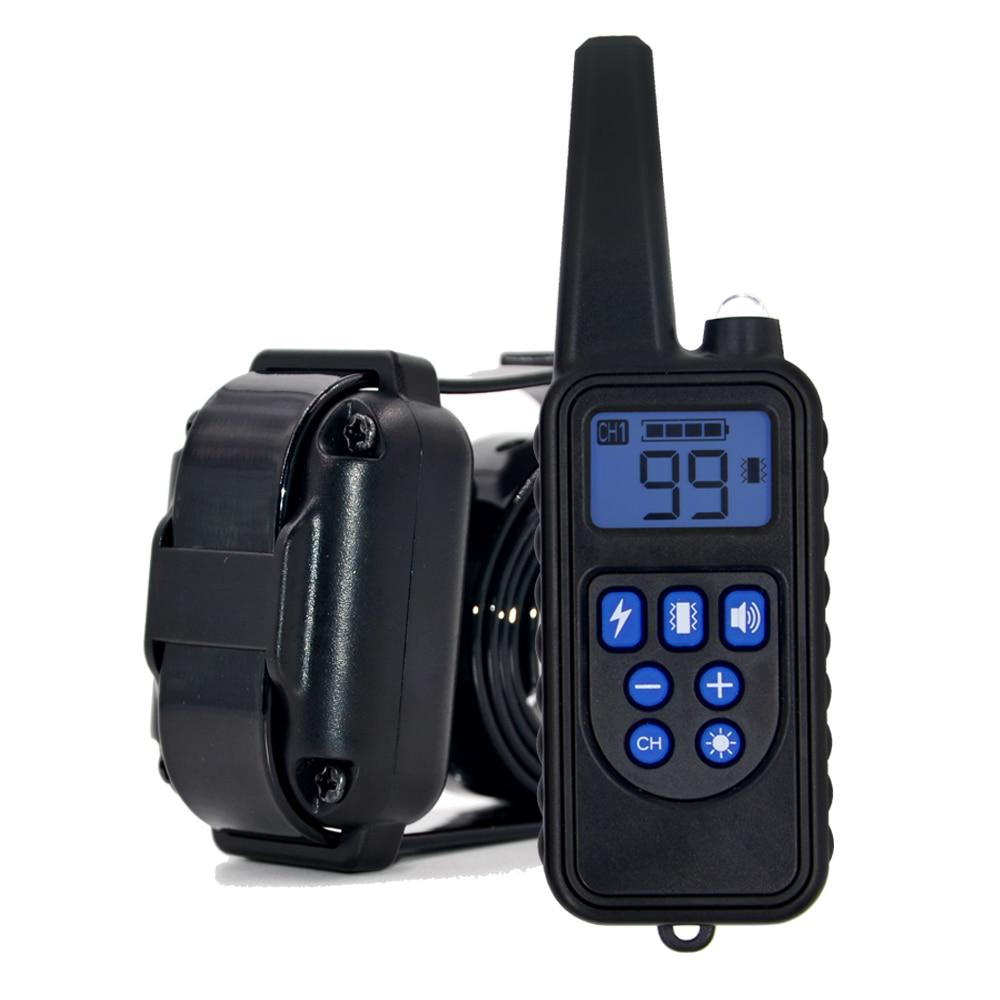 Control remoto entrenamiento del perro impermeable collar de choque eléctrico recargable ajustable Niveles perro collar de entrenamiento cuatro modo