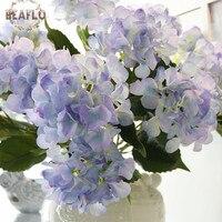 1 Bukiet 5 Głowice Silikon Śnieżka Hortensja Bukiet Sztuczny Kwiat Wedding Home Dekoracyjne Florystyka 4 Kolory