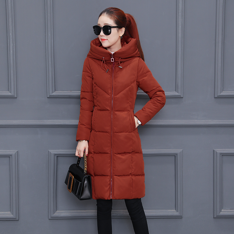 Long Cotton Coat Female Winter Parkas New 2018 Korean Fashion Women Down Cotton Clothing Winter Slim Warm Hooded Jacket Z111 winter jacket female parkas hooded fur collar long down cotton jacket thicken warm cotton padded women coat plus size 3xl k450