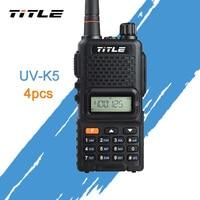 (4 шт.) черный KSUN портативный радио UV K4 двухдиапазонный UHF 400 520 МГц fm радио двухстороннее Радио рация
