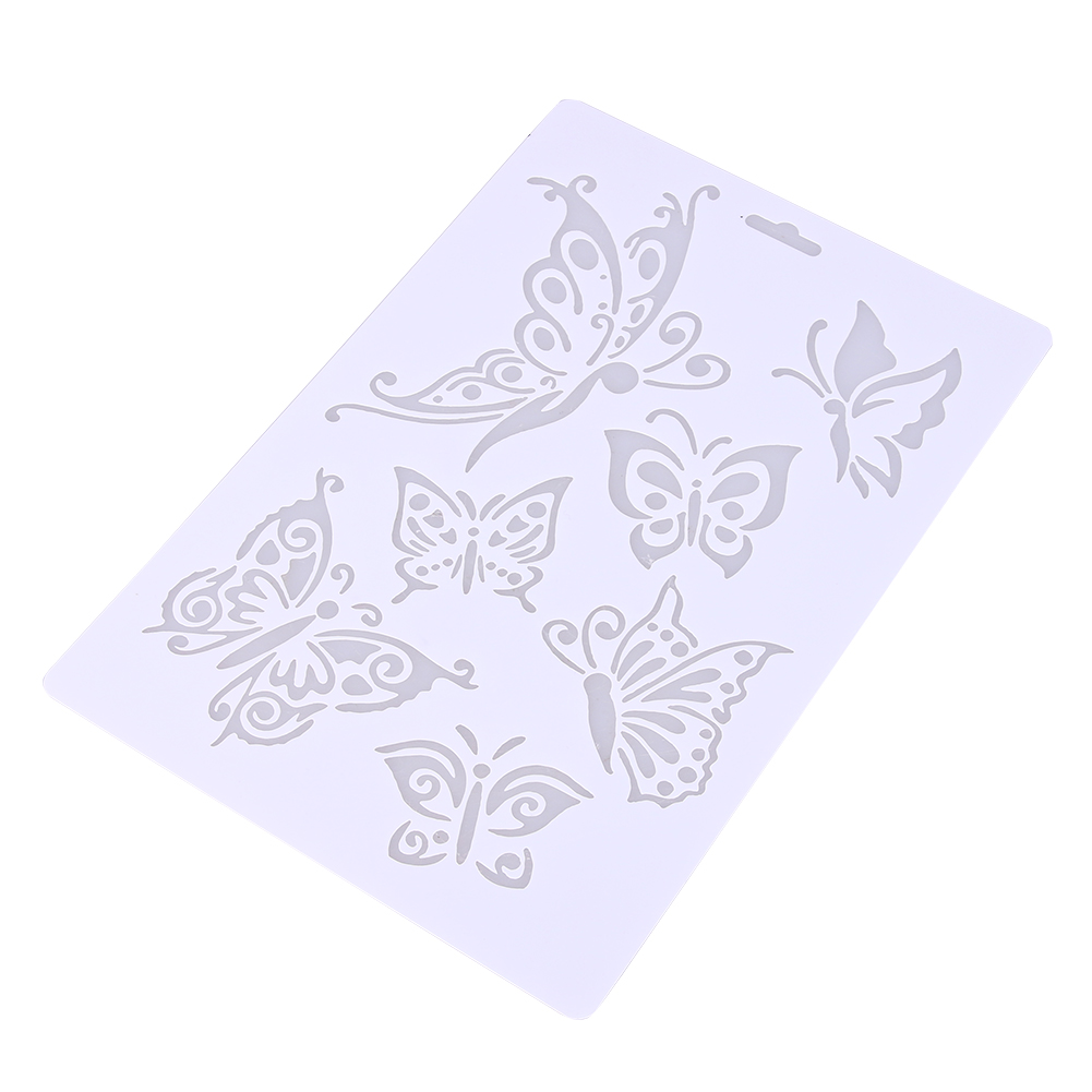 online shop hollow spray lace butterfly fondant cake stencil