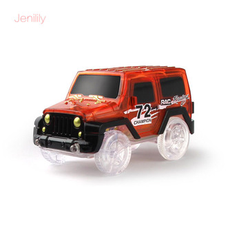 Magical Electronics LED Car Toys With Flashing Lights Model Track Car Educational Toys For Children Boys Birthday Party Gift