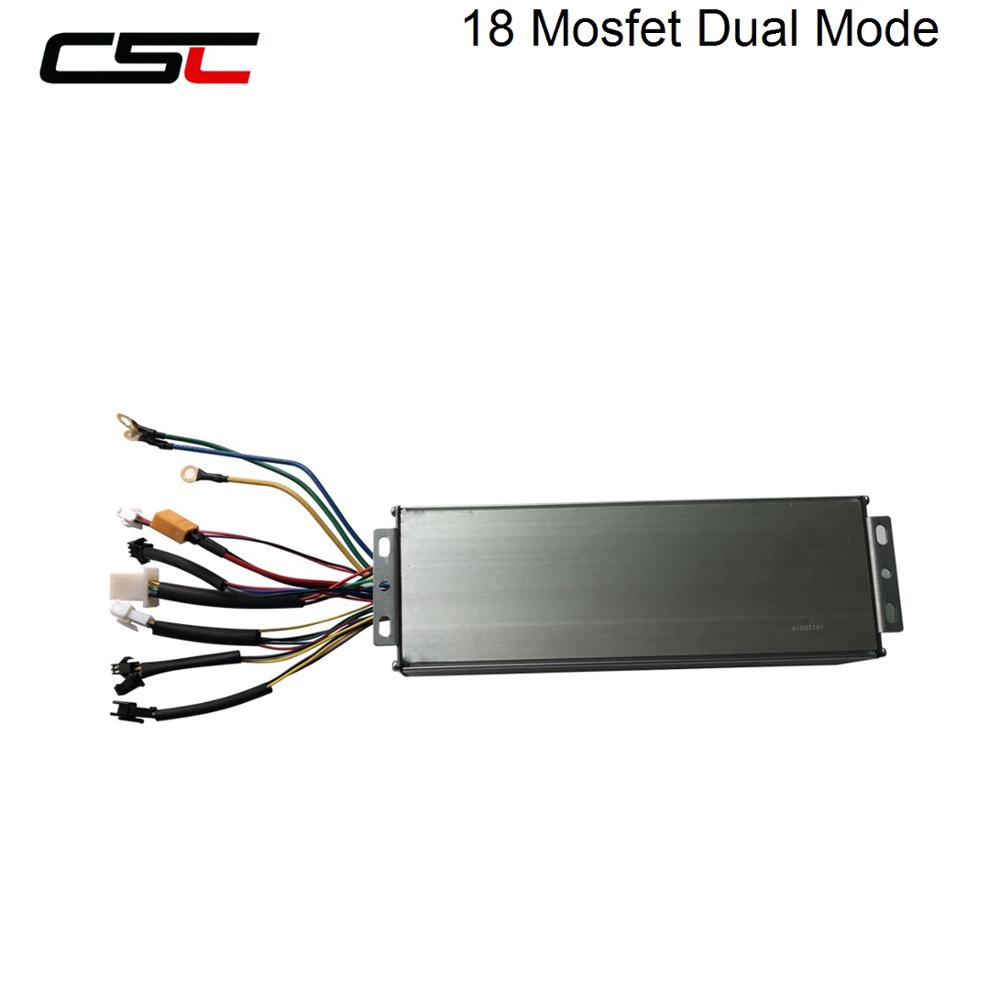 Universal Lcd Controller 45A 48V 1500W 2000W DC Brushless Speed Dual Mode Controller for Brushed Motor